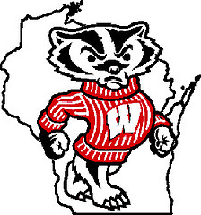 Bucky Badger WI outline